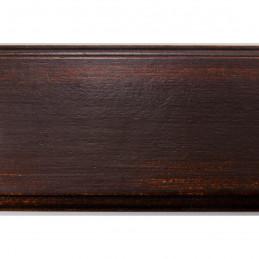 BOE176.73.087 75x30 - szeroka ciemno brązowa przecierana rama do obrazów 2