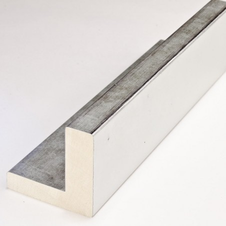 INK2137.653 55x55 - american box srebrna z przetartymi brzegami