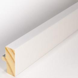 INK4411.681 21x38 - mała biała matowa  ramka z srebrnym schodkiem 1