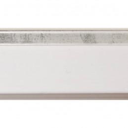 INK4411.681 21x38 - mała biała matowa  ramka z srebrnym schodkiem 2