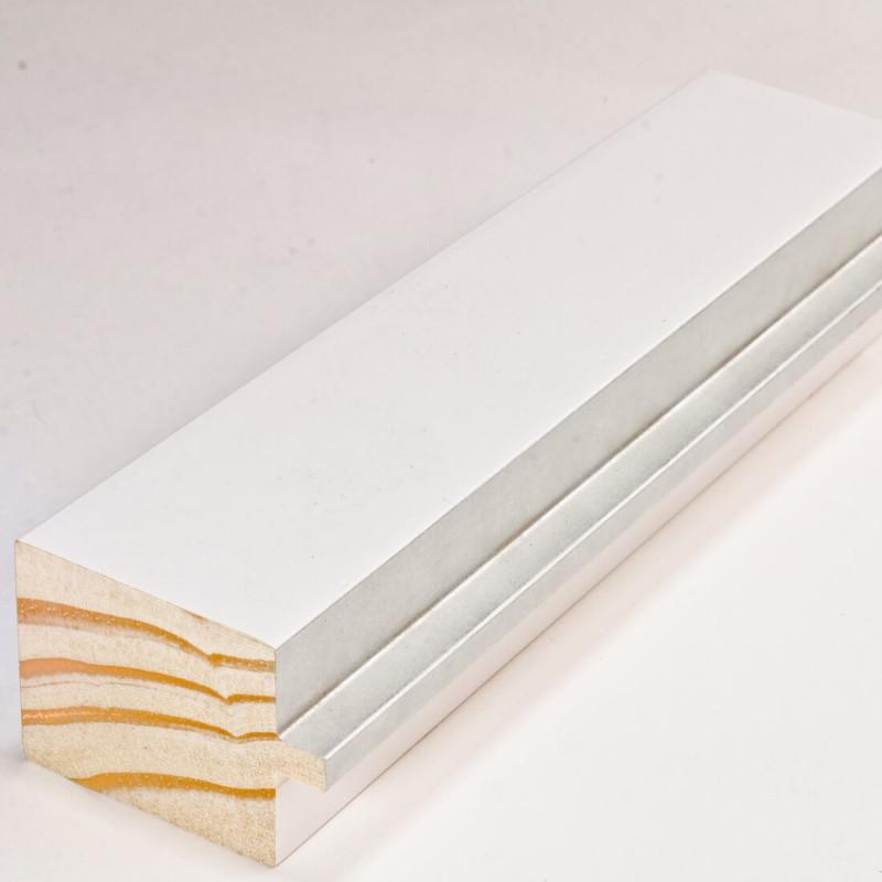 INK4413.681 54x39 - biała matowa rama z srebrnym schodkiem