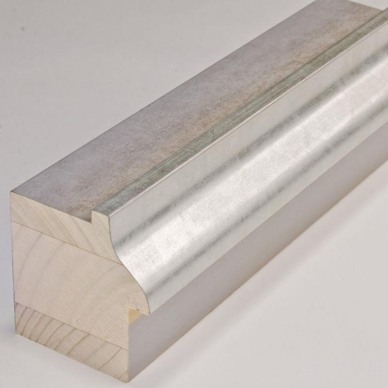 INK5115.623 55x60 - szara rama ze srebrnym brzegiem