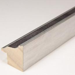 INK5282.614 22x24 - ramka metalizowana szara ze srebrnym brzegiem 1