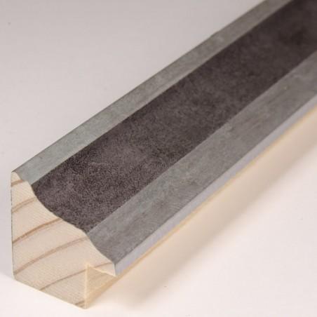 INK5282.614 22x24 - ramka metalizowana szara ze srebrnym brzegiem
