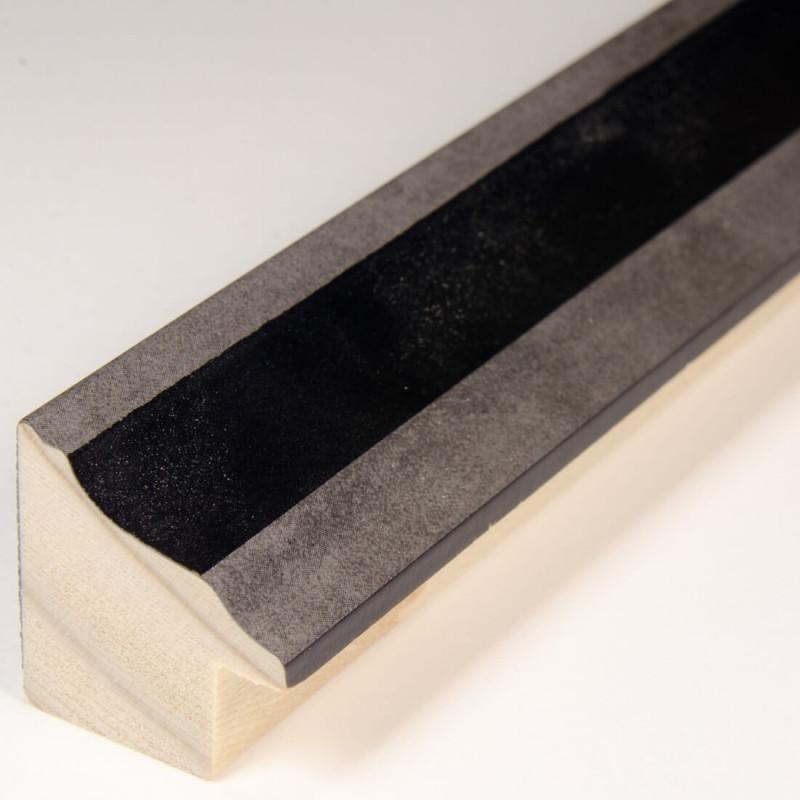 INK5282.615 22x24 - ramka metalizowana antracyt ze srebrnym brzegiem