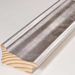 INK5285.614 55x30 - szara ramka metalizowana ze srebrnymi brzegami