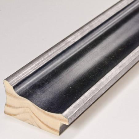 INK5285.615 55x30 - rama metalizowana antracyt ze srebrnymi brzegami