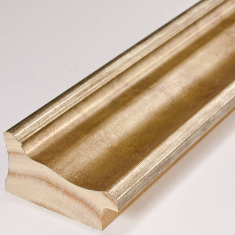 INK5285.714 55x30 - rama metalizowana złota ze złotą przecierką