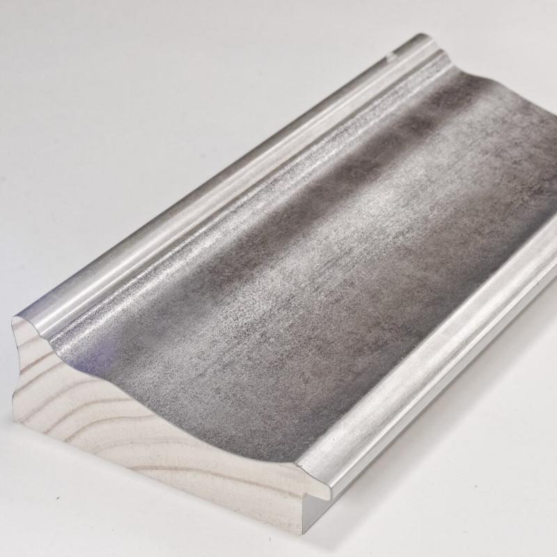 INK5289.614 90x30 - dużą szara rama metalizowana ze srebrnymi brzegami