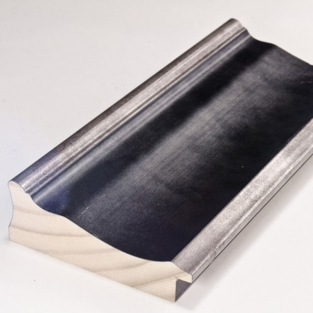 INK5289.615 90x30 - duża rama antracytowa metalizowana ze srebrnymi brzegami
