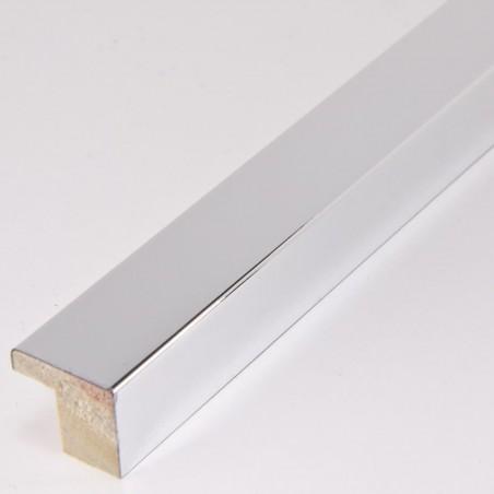 SCO2010/46 15x14 - jasno srebrna ramka laminowana wysoki połysk
