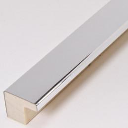 SCO2010/46 15x14 - jasno srebrna ramka laminowana wysoki połysk 1