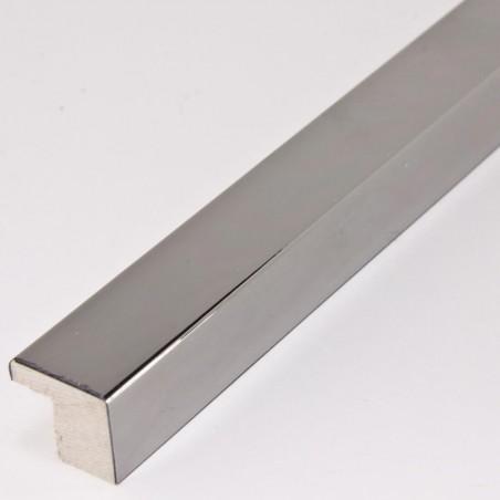SCO2010/47 15x14 - ciemno srebrna ramka laminowana wysoki połysk