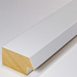SCO818/32 50x25 - drewniana biała matowa rama do obrazów i luster 1