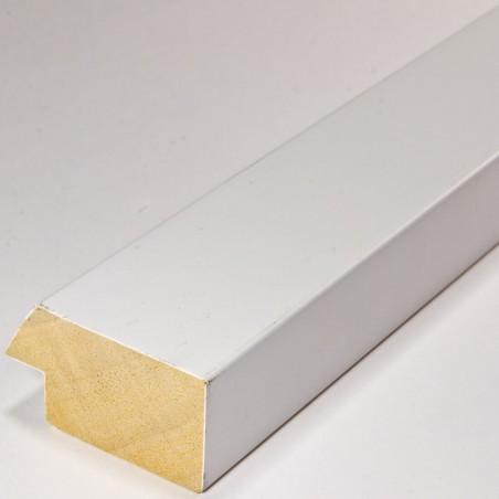 SCO818/32 50x25 - drewniana biała matowa rama do obrazów i luster