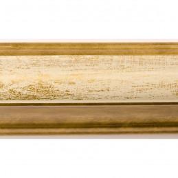 SCO908/191 30x40 - rama wysoki półwałek złoto + krem 2