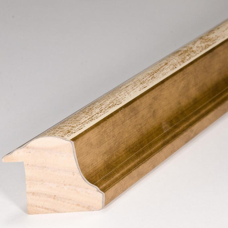 SCO908/191 30x40 - rama wysoki półwałek złoto + krem 1