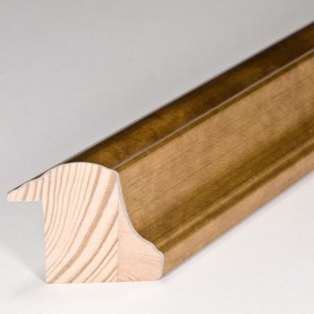 SCO908/192 30x40 - rama wysoki półwałek złoto dukatowe