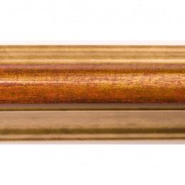 SCO908/196 30x40 - rama wysoki półwałek złoto + czerwień 2