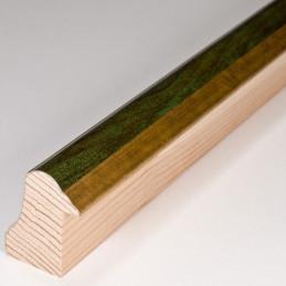 SCO908/197 30x40 - rama wysoki półwałek złoto + zieleń 1