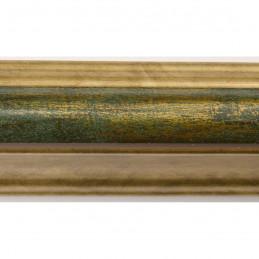 SCO908/197 30x40 - rama wysoki półwałek złoto + zieleń 2