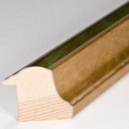 SCO908/197 30x40 - rama wysoki półwałek złoto + zieleń