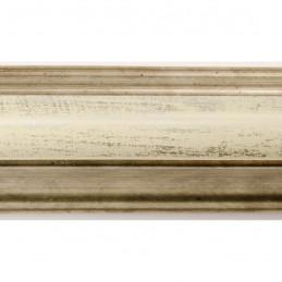SCO908/199 30x40 - rama wysoki półwałek złoto szampańskie + biel 2