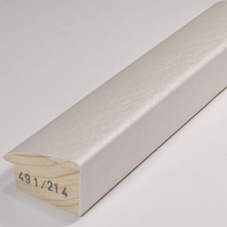 SCO491/214 45x30 - biała laminowana rama do obrazów i luster drapana