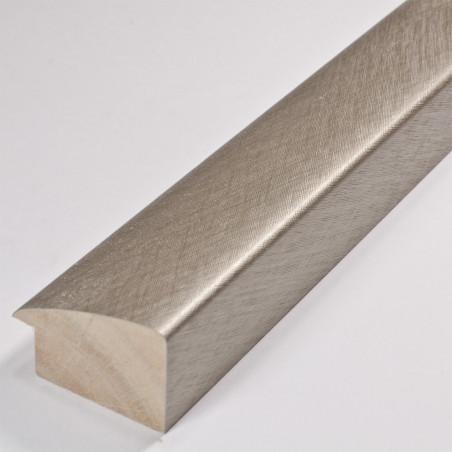 SCO491/319 45x30 - jasna srebrna laminowana rama do obrazów drapana