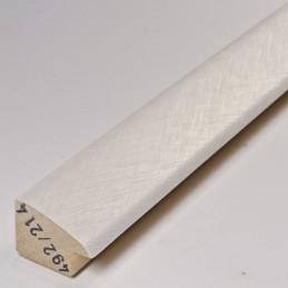 SCO492/214 32x20 - laminowana biała drapana rama perłowa do obrazów 5