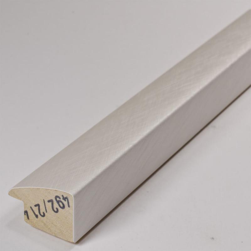 SCO492/214 32x20 - laminowana biała drapana rama perłowa do obrazów 4