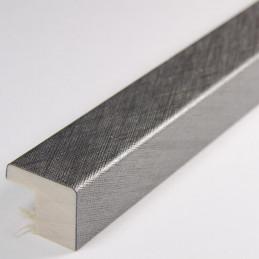SCO2010/317 15x14 - srebrna drapana ramka laminowana do zdjęć