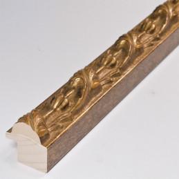 SCO991/15  25x27 -  stara złota rama do obrazów z ornamentem