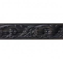 SCO991/308  25x27 -  czarna rama do obrazów z ornamentem 3