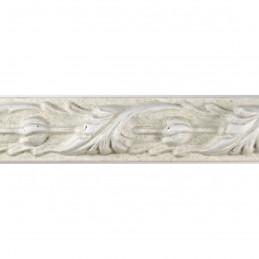 SCO991/309  25x27 -  biała rama do obrazów z ornamentem 3