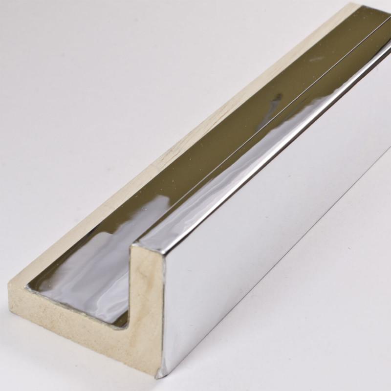 SCO6015/46 50x40 - american box srebrna lustrzanka rama do obrazów