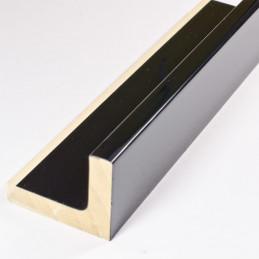 SCO6015/48 50x40 - american box czarna laminowana rama do obrazów wysoki połysk