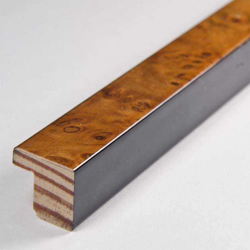 ASO226.31.080 15x15 czeczot jasno brązowa lakierowana ramka do zdjęć