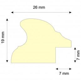 RO/3FF orzechowa owalna rama drewniana ze złotym paskiem przekrój
