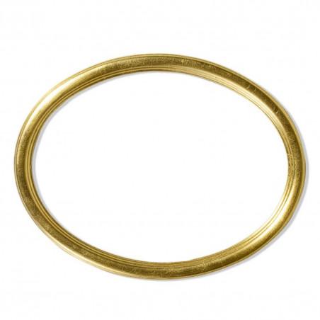 RO/8 złota owalna rama drewniana