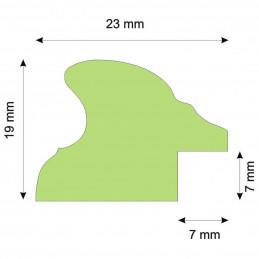 RO/9 srebrna owalna rama drewniana -przekrój
