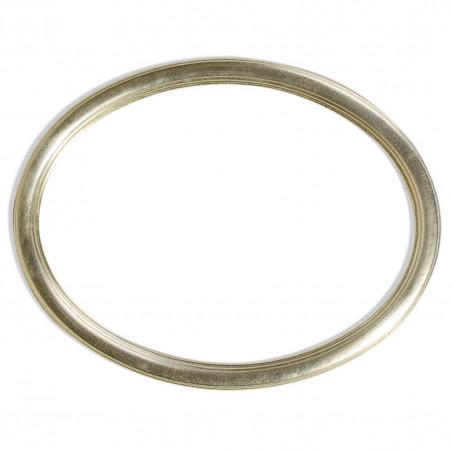 RO/9 srebrna owalna rama drewniana