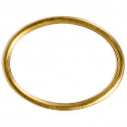 RO/8 MDF złota owalna rama MDF