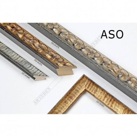 ASO237.34.031 25x25 - wąska złota postarzana rama do zdjęć i luster