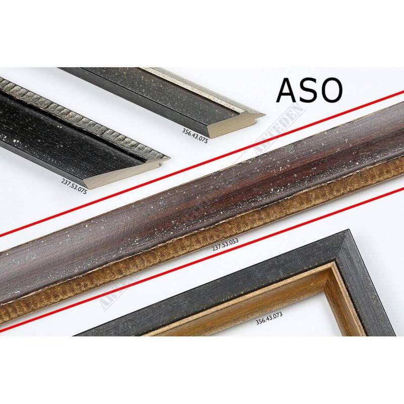 ASO237.53.053 50x25 - drewniana ciemno brązowa rama do obrazów i luster