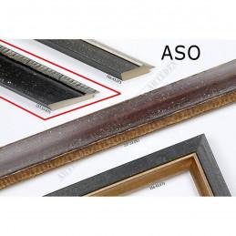 Rama ASO237.53.075 50x25 - drewniana czarna rama do obrazów i luster