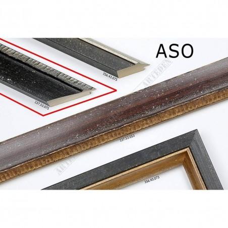 ASO237.53.075 50x25 - drewniana czarna rama do obrazów i luster