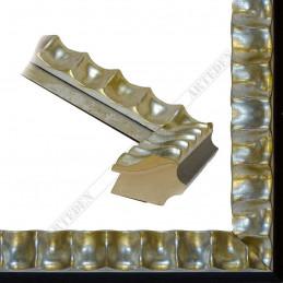 ASO336.44.044 60x45 - drewniana srebrna rama do obrazów i luster
