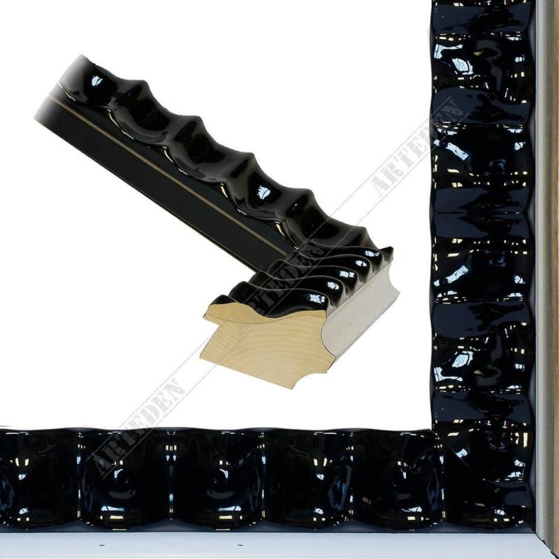 ASO336.44.075 60x45 - drewniana czarna lakierowana rama do obrazów i luster