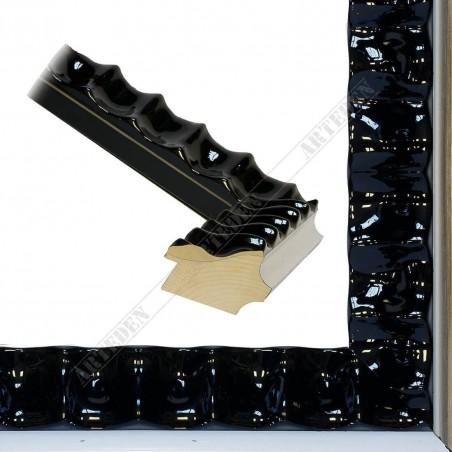 ASO336.44.075 60x45 - czarna lakierowana rama do obrazów i luster